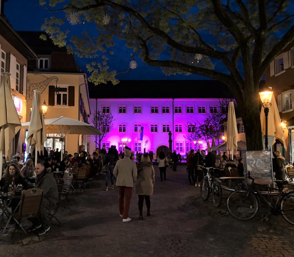 Der Blick aufs Schloss bei der Shopping Night