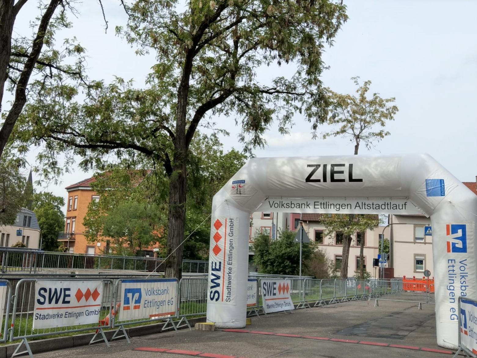 Ziel des Volksbank Ettlingen Altstadtlaufs