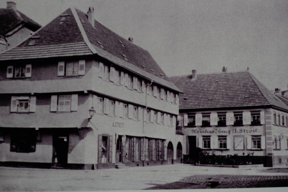Historisches Foto Modehaus Streit Ettlingen